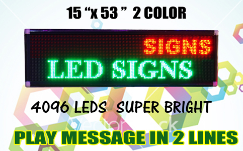Led Sign - 2 lines (1)